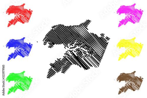 Photo Quinara Region (Republic of Guinea-Bissau, Regions of Guinea Bissau) map vector