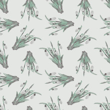 Snowdrops Seamless Pattern. Sp...