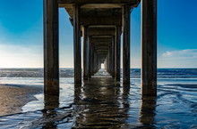 Sunset At Scripps Pier In La J...