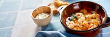 Fresh Grilled Mediterranean Scampi Appetizer