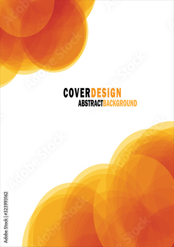 Αφίσα Orange circle abstract cover modern cover book Brochure template, design, annual