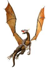 3d Illustration Flying Dragon ...
