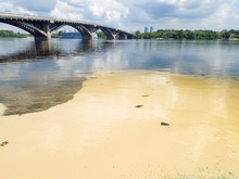 Image Of Polluting River Ecosy...