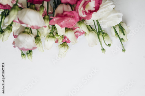 Fototapety, obrazy: Beautiful spring bouquet with tender flowers, elegant floral decoration
