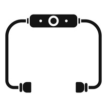 Bluetooth Earbuds Icon. Simple...
