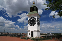 The Clock Tower In Petrovaradin Fortress, Novi Sad, Serbia