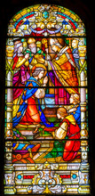 Coronation Stained Glass King Saint Louis Cathedral New Oreleans Louisiana