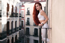 Bright Young Redhead Woman In ...
