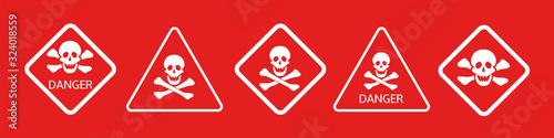 Fotografia Hazard warning danger signs