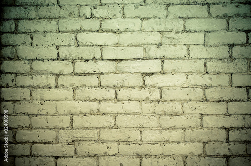 Photo Brick old white brickwork