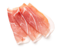 Prosciutto Slices Isolated On ...