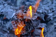 Burning Documents And Newspape...