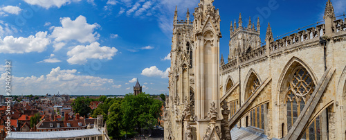 Exterior view of the York Minster