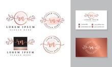 Initial Rn Feminine Logo Colle...