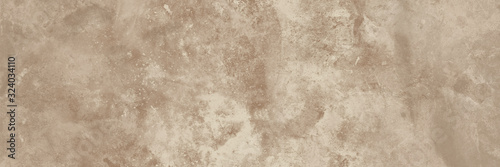 Photo Old beige wall texture abstract background. Panoramic view.