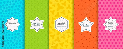 Vector geometric seamless patterns collection Wallpaper Mural