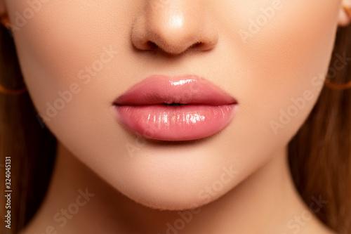 Beautiful Lips Close-up Fototapet