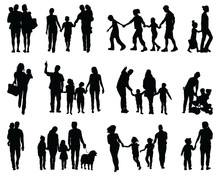 Black Silhouettes Of Families ...