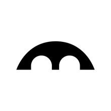 Bridge Icon, Logo Isolated On White Background