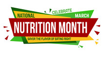 National Nutrition Month Banne...