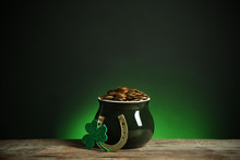 Pot With Gold Coins, Horseshoe...