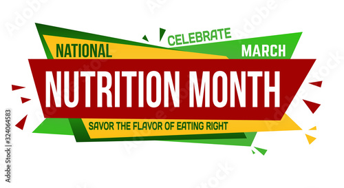 National nutrition month banner design
