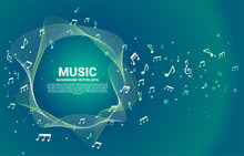 Vector Template Music Melody N...