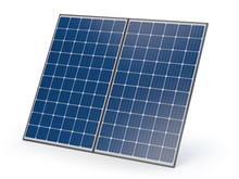 Isolated Solar Panels - 3D Ill...