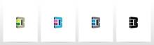Rectangle Block On Letter Logo...