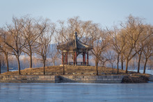 Small Islet On Kunming Lake In Summer Palace In Beijing, Capital City Of China