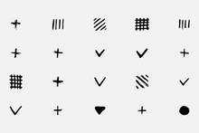 Simple Geometric Shapes Drawn In Pencil By Hand. Different Kinds Of Shapes. Black White Sketch Circles. Vector Eps Illustration.