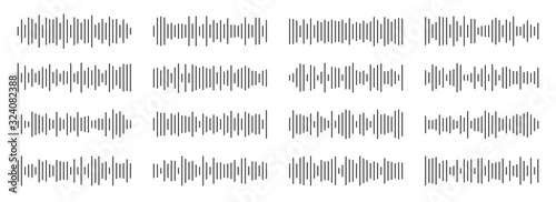 Obraz na plátně Creative vector illustration of audio, sound wave, soundwave line, waveform isolated on background
