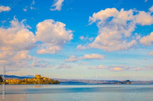 Valokuva Lake of Bolsena. The town of Capodimonte.