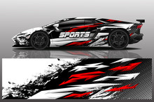 Sport Car Decal Wrap Design Ve...