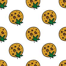 Marijuana Cookie Seamless Dood...