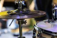 A Detailed View Of A Percussio...