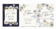 Wedding Luxury Set Invitation,...