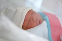 Cute Little Newborn Baby Sleep...