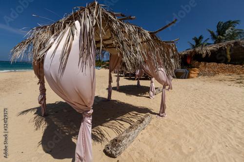 Cabana on a tropical beach