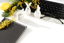 Easter Background. Office Tabl...