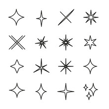 Set Of Sparkle Related Vector ...