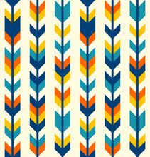 Colorful Bohemian Aztec Arrows Pattern