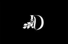 Letter D Logo Beauty Peacock S...