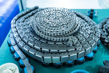 Industrial Driving Roller Chain Close Up