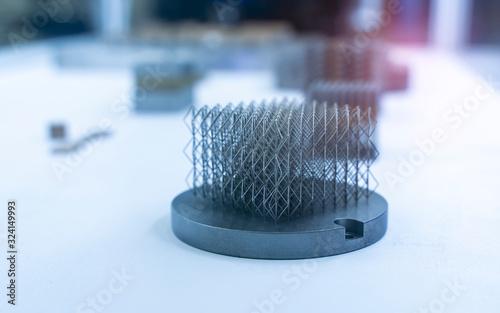 Photo Object printed on metal 3d printer clos