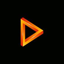 3d Unlimited Triangle Vector Logo Design