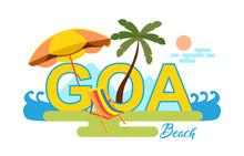 Goa Beach Life Design Composition Vector