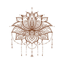 Ornate Lotus Flower. Ayurveda ...