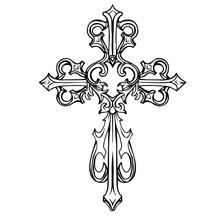 Cross Icon. Hand Drawn Vector ...