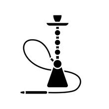 Hookah Black Glyph Icon. Shees...